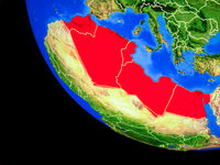 North Africa on Earth from space