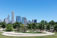 cityscape of modern city chicago