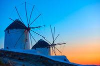 Old windmillls in Mykonos