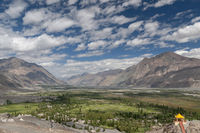 View of Nubra Valley from Diskit Monastery, Ladakh, India
