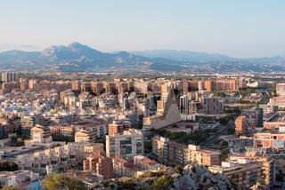 Alicante cityscape aerial view. Spain.