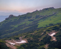 Sunrise Carpathian mountain