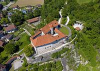 Laupen Castle, Laupen, canton Bern, Switzerland,
