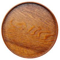 empty round wooden tray