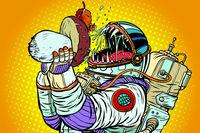 Astronaut Monster Eats Mushroom