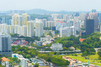Singapore living district apartment buildings