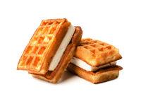 Sweet tasty viennese waffles