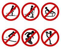 Verkehrsschild Verbot verschiedener Sportarten - Traffic prohibition sign for various sports