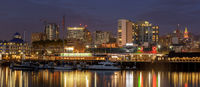 Oakland Night Panoramic skyline
