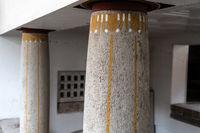 Columns with Art Nouveau ornaments