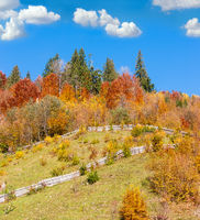 Autumn Carpathian mountains, Ukraine