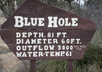 Blue Hole Sign in SANTA ROSA, NM, USA
