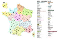 france 2 digit postcodes postal codes vector map