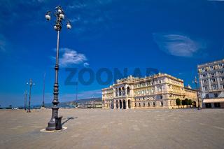 Piazza Unita d Italia square in Trieste view