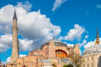 Hagia Sofia with clearly blue sky in Istanbul city, Turkey
