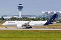 Lufthansa Airbus A350 airplane Munich airport