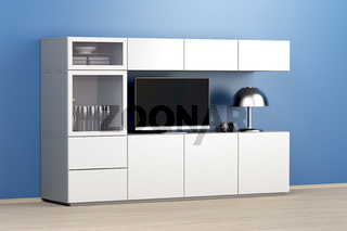 Lcd tv and big tv cabinet