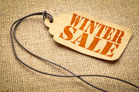 winter sale price tag