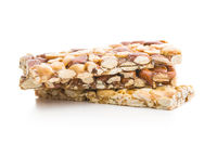 Sweet nut bars with honey.