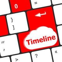 timeline concept - word on computer keyboard keys