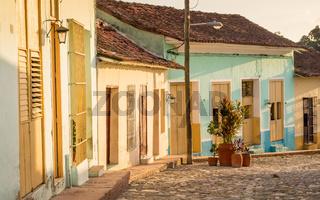Colonial Street in Sancti Spiritus, Cuba