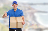 Package parcel delivery service box order delivering job success copyspace copy space
