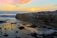 Sunset over Four Mile Beach.