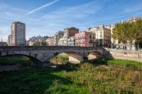 City of Girona Riverside Skyline