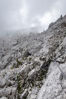 Klettersteig auf die Zugspitze in Bayern