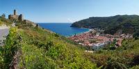 Panoramic view of Noli - Liguria - Italy