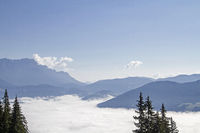 Inversion situation in the Saalach valley