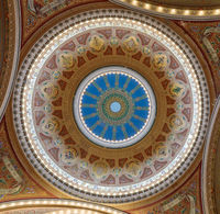 San Francisco, California - September 22, 2019: Dome of Congregation Sherith Israel.