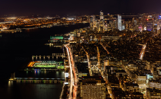 New York city Mid town Aerial