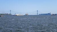 the Verrazano Narrows Bridge at New York USA