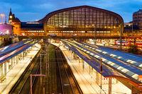 Haburg central railway train station