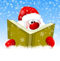 Santa is reading a book.eps
