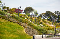 The Seafront gardens of Lyme Regis. West Dorset. England