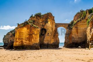 Bridge at a beach