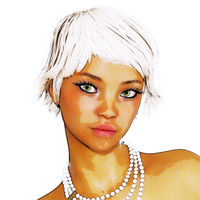 Digital 3D Illustration of an attractive Female