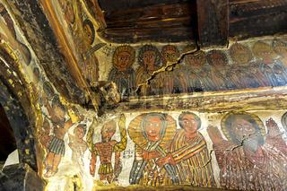Wandgemälde biblischer Szenen