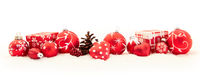 Roter Header zu Weihnachten mit Geschenk