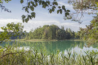 Idyllic Oster lakes in the foothills of the Alps