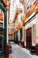 Interior view of  Leadenhall Market in London
