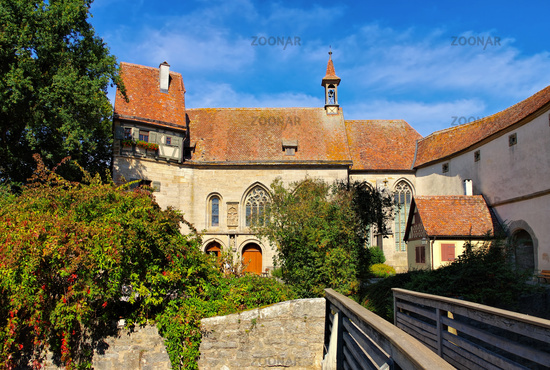 Rothenburg Wolfgangskirche - Rothenburg in Germany, the gothic St. Wolfgangs Church