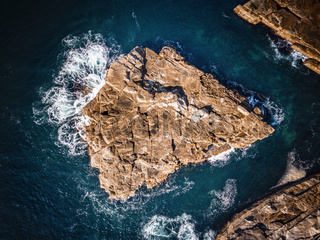 Avoca beach rock shapes aerial abstract