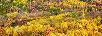 Picturesque panoramic autumn landscape. Sigulda, Latvia