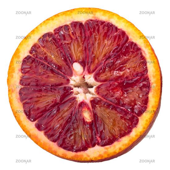 Blood orange c. x sinensis ring slice