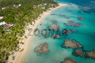 Dominican Republic beach drone shot