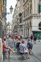 San Lorenzo street in Genoa
