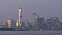 New York City Manhattan Skyline Ellis Island Statue of Liberty USA